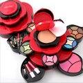 Miss rose sombra de ojos plate genuino medium plum blossom giratoria caja estuche de cosméticos de maquillaje paleta de sombra de ojos herramientas de maquillaje