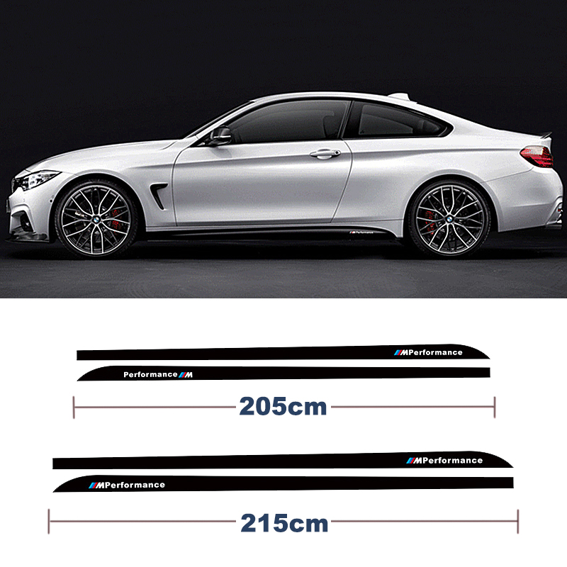 For BMW 3 Series F30 320i 316i 328i For BMW 5 series E60 E61 For BMW 4 Series F32 F33 X5 M performance Side Skirt Stripe Sticker