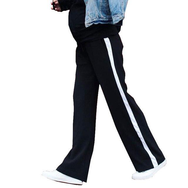 da8d3f558 Abdominal Pantalones Para Embarazadas Ropa de Maternidad Ocasional Aumento  Gravida Pantalones de Pierna Ancha de Alta
