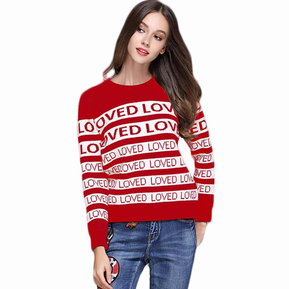 b4755ea1f4b BTS Jumper Man Sweaters Autumn Winter Thick Letter Loved Sweater Women  Casual Plus Size Rabbit Velvet Runway Sweater Pullovers