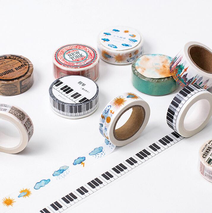 5J201-219  A Beautiful Day Decorative Washi Tape DIY Scrapbooking Masking Tape School Office Supply