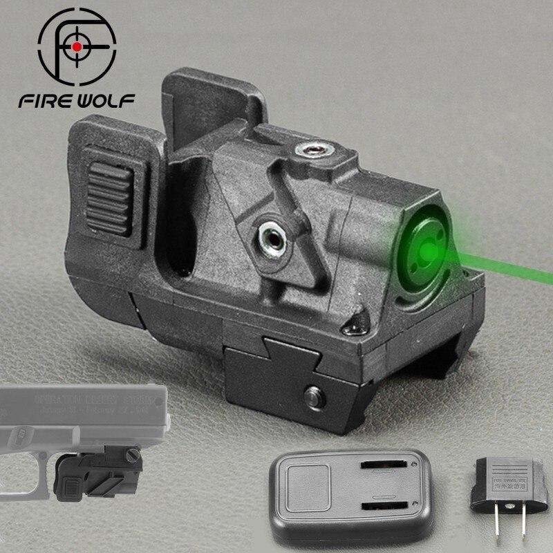 Chasse Optique Green Dot Laser Sight Réglable Mira Laser Par Pistola Pour Glock Shotgun Pistolet Fusil Laser Collimateur