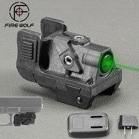 Hunting Optics Green Dot Laser Sight Adjustable Mira Laser Para Pistola For Glock Shotgun Pistol Rifle Laser Collimator