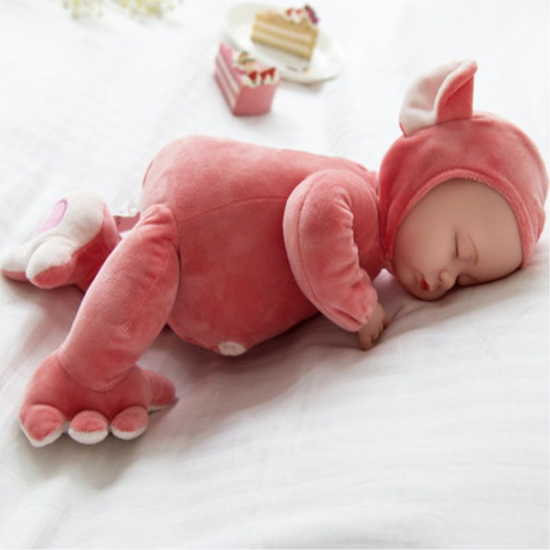 25CM Mini Stuffed Baby Doll Toys For Children Silicone Reborn Alive Babies Lifelike Kids Toys Sleep Reborn Doll For Kid Toy