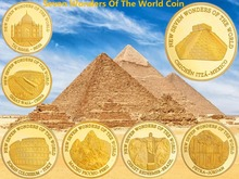 Seven Wonders Of The World Commemorative Coin Memorial Souvenirs Collectibles Copy Wonders Of The World, free shipping Mix 7pcs the wonderful wonder of wonders