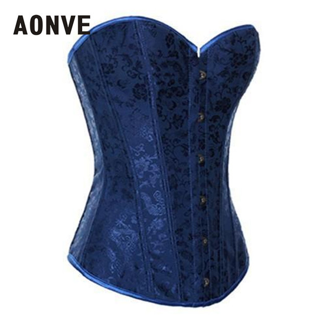 7a5876a80 Blue Corset Gothic Steampunk Bodice Wedding Sexy Lingerie Corsage Overbust  Corsets and Bustiers Slimming Shaperwear S