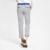 2017 Verão Faixa Vertical Slim-fit dos homens Jovens Nona Pant Flat-Front Conforto Respirável Macio Tornozelo-Calças de comprimento