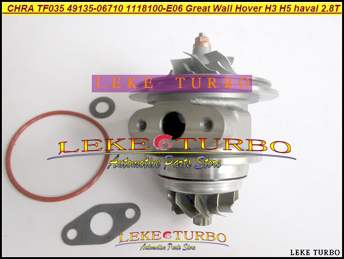 Free Ship Turbo Cartridge CHRA TF035 1118100-E06 49135-06710 1118100E06 For Great Wall Pickup Hover H3 H5 haval 2.8T GW2.8T 2.8L turbo cartridge chra tf035 1118100 e06 1118100e06 49135 06710 4913506710 for great wall hover h3 h5 haval 2 8t 2 8l gw2 8tc 70kw
