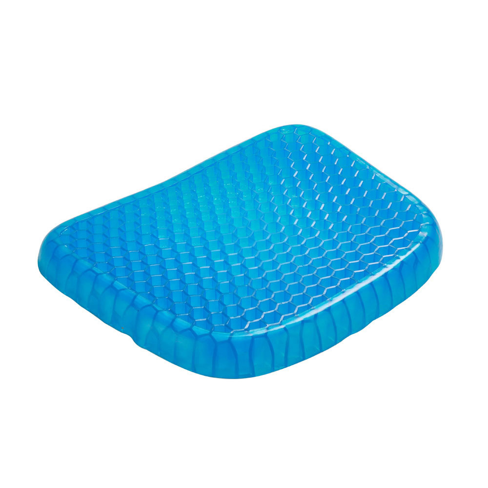 Big Size Flexible Gel Seat Cushion Breathable Orthopedic Honeycomb Car Sofa Cushion Cervical Health Care Pain Release Cushion