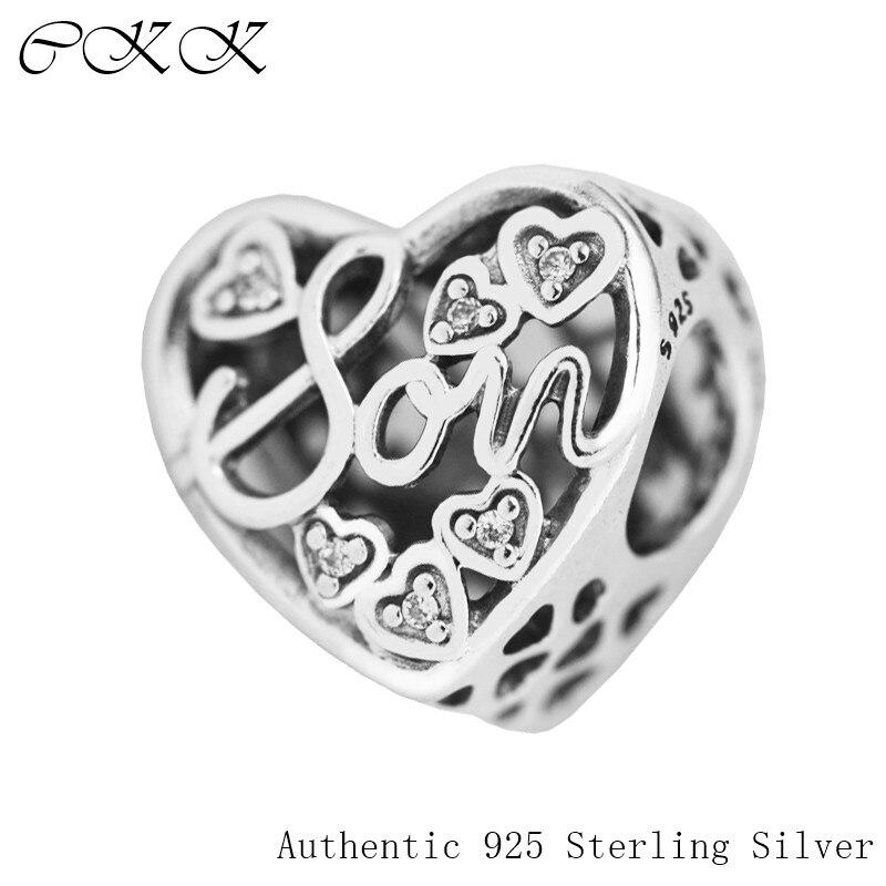 """Tinka """"Pandora"""" apyrankės motinos sūnaus obligacijų karoliukai 100% 925 sidabro skaidrus cirkonis žavesys juvelyrinių dirbinių gamybai, dailių papuošalų PF551"""