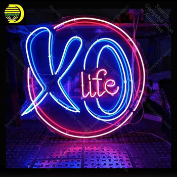 Neon Sign for Life neon Light Sign illuminated Beer Bar Pub Sign real glass Tubes Handcrafted Neon signs Fill Gas custom neon