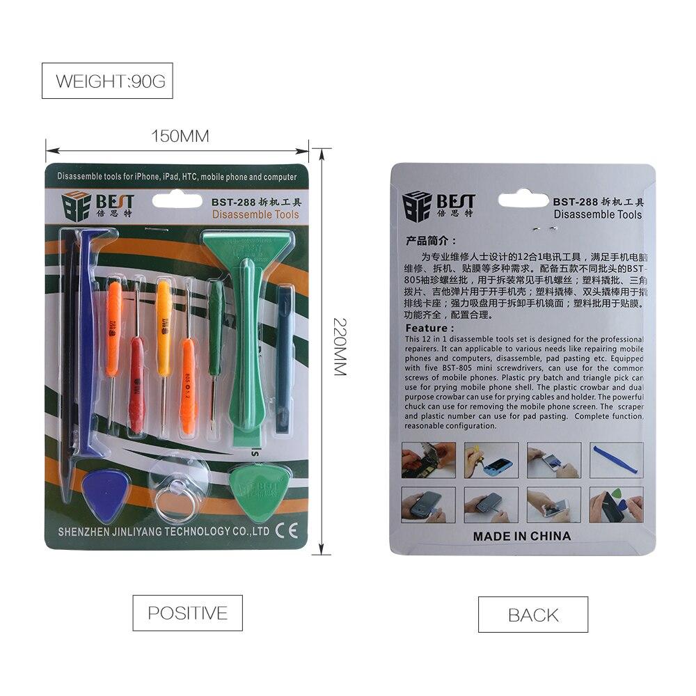 12pcs in 1 Mobile Phone Tool Screwdriver Set Opening Tool for iPhone iPad Phone Repairing
