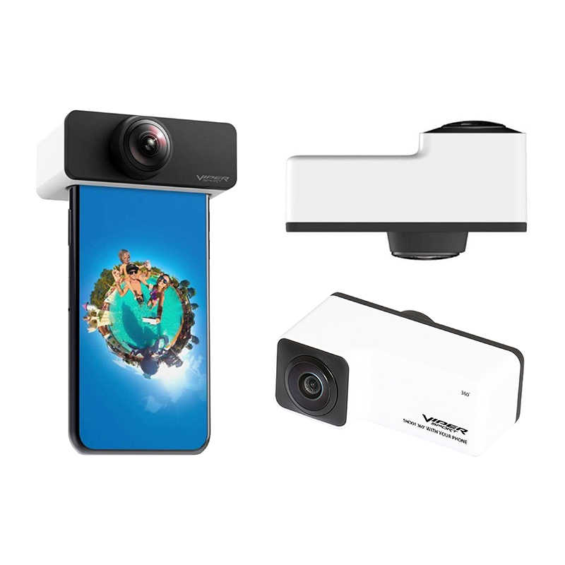 Viper Lensa Panorama 360 Derajat Menangkap Kamera AR VR Lebar Sudut Fisheye Lensa Panoclip untuk iPhone 7 Plus/8 plus