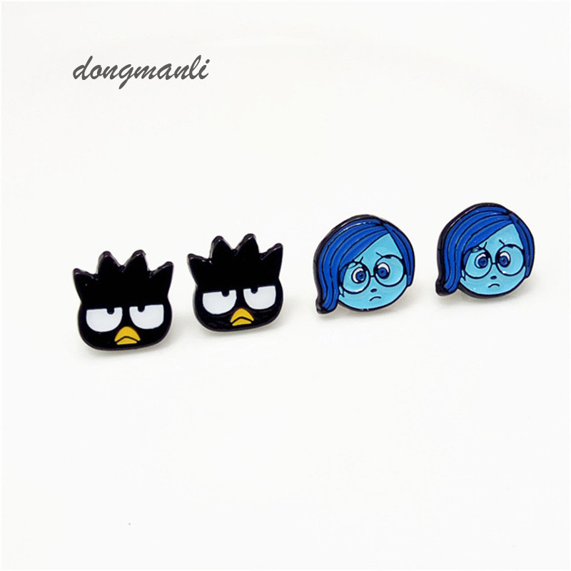 W5314 movie Inside Out earrings for women New Design Enamel Classic Lovely Cartoon earring Gift Spot sales