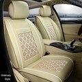(Delantero y Trasero) Cuero del asiento de coche especial cubre Para Hyundai solaris ix35 ix25 i30 acento Elantra tucson Sonata coche accesorios