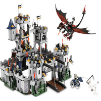 Lepin 16017 1023Pcs Movie Series King Castle Battle Siege Set Building Block Toys Compatible With Lepin