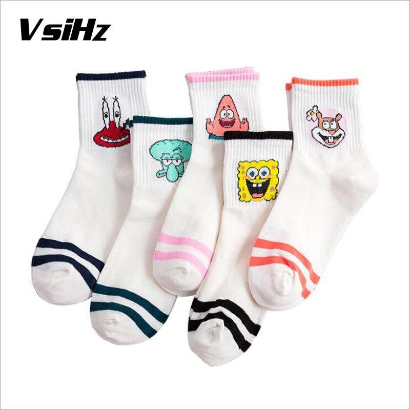 Women Cute Patternd Ankle   Socks   Fashion Harajuku Cartoon Character Cute Short   Socks   Hipster Skatebord Ankle Funny Female