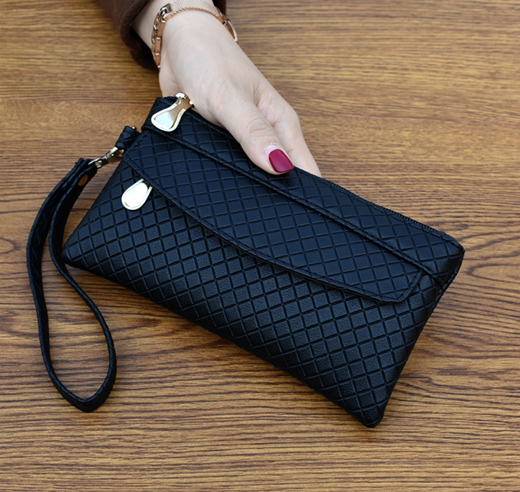 J63 2018 new women's wallet simple mobile phone bag temperament check wallet цены