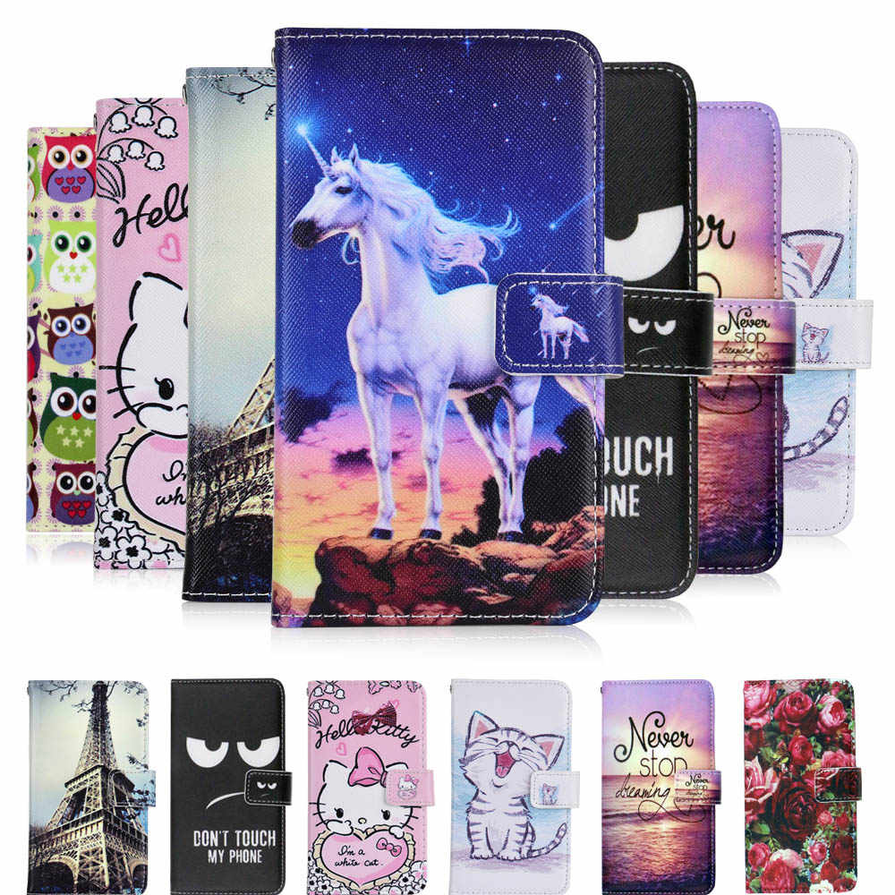 KESIMA For Philips S318 case cartoon Wallet PU Leather CASE Fashion Lovely Cool Cover Cellphone Bag Shield