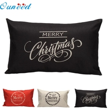 EV 11 Лидер продаж Прямая Рождественская наволочка для подушки диван талии Бросок Чехлы Home Decor Прямая JUNE26