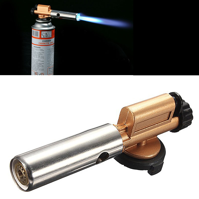 Electronic Ignition Copper Flame Butane Gas Burner Gun Maker Torch Lighter New