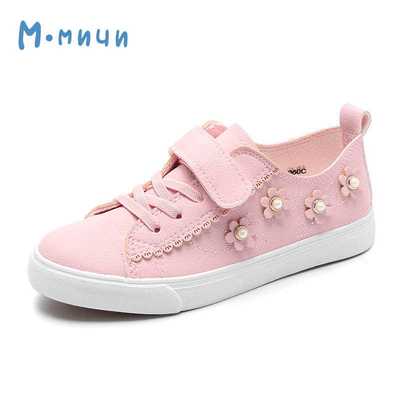 MMNUN 2018 New Spring Flower Girls Shoes Breathable Pu Leather Kids Shoes for Little Girl Cute Children Sneakers Children Shoes dinoskulls new kids sport shoes children sneakers breathable leather boy running shoes 2018 girls leisure casual shoes