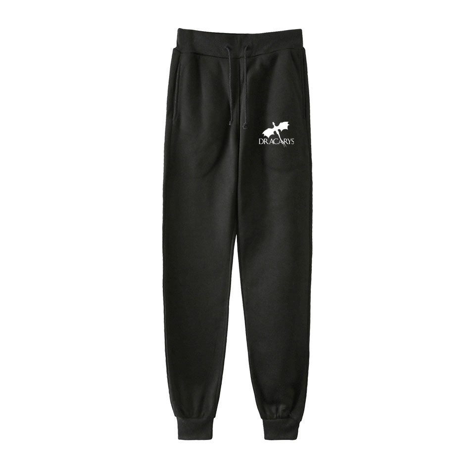 Hot Teleplay Dracarys Men Hip Hop Pants Trousers Kpop Fashion Casual High Quality New Casual Warm Pants Slim Kpop Pants