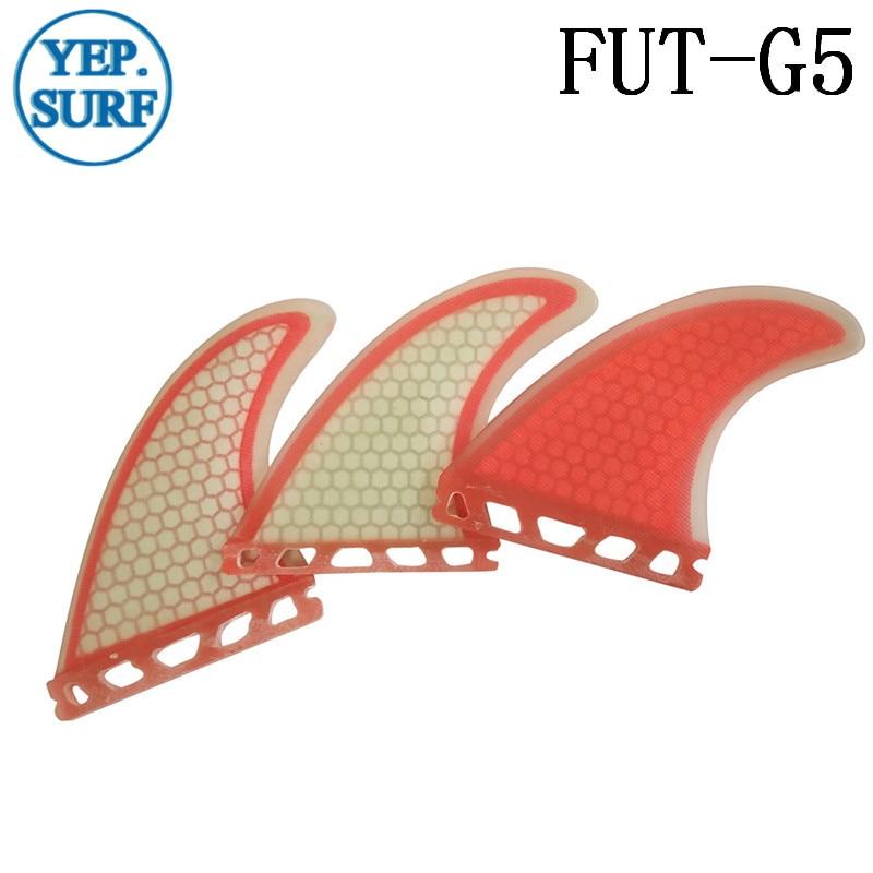 Surfboard Fin Future G5 Fin Quilhas Light Red Fiberglass Surf Fin - Ջրային մարզաձեւեր - Լուսանկար 2