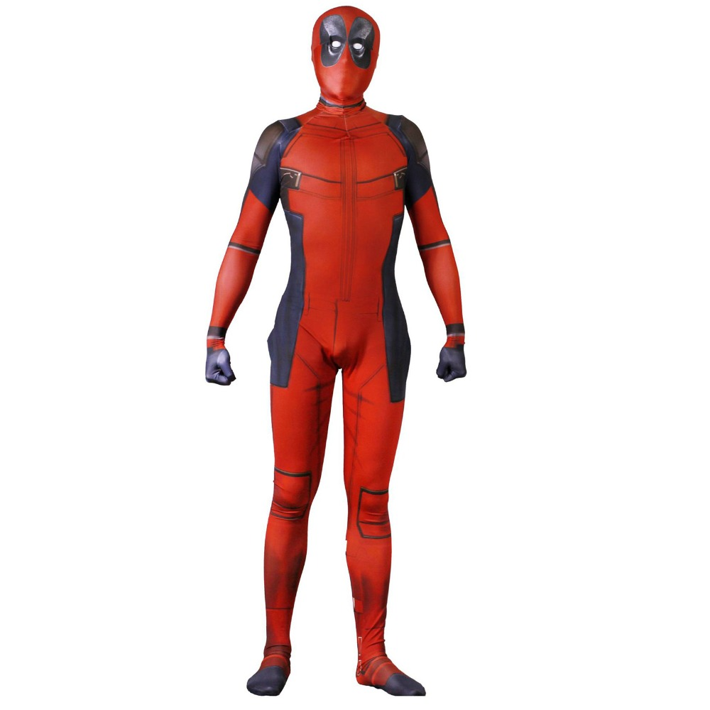Deadpool Costume Cosplay Adult  Kids Deadpool Bodysuit Costume Wade Wilson Spandex Lycra Zentai Halloween Cosplay Cosrtume