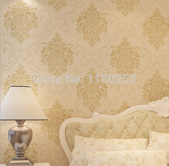 wallpapers decoration Damask  Wallpaper Non Woven Wall Paper decor for Living room papel de parede 3d 53*1000cm high quality wall paper mural flower floral wallpaper for walls wallpapers non woven 3d stereoscopic wallpapers papel de parede