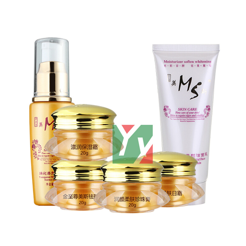 цена на wholesale & retail Mei Si whitening freckle beauty face cream + cleanser + essence 6pcs/set