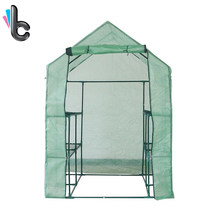 Outdoor Plant Stand Greenhouse Waterproof Deluxe Walk In 2 Tier 8 Shelf Garden Greenhouse Sunshine House(China)