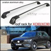 Galerie de toit/toit rail/croix bar (croix faisceau) pour Volvo XC60 XC90 2013-2017, aviation en alliage d'aluminium (meilleur), de cinq années SUV sûr vendeur