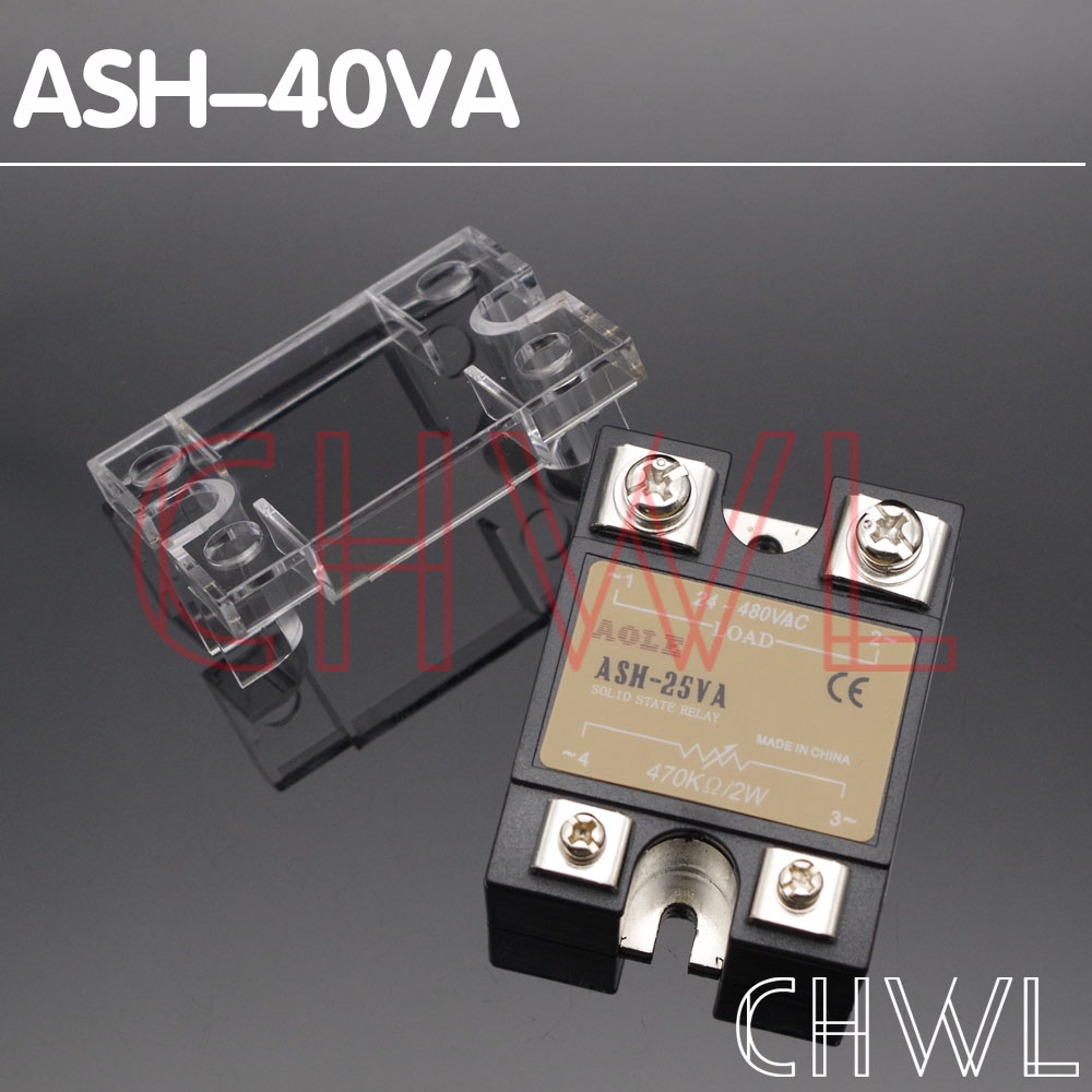 1pcs Solid State Relay ASH-40VA 40A 470K/2W Extermal control potentiometer Input 24-480VAC Output FREE SHIPPING1pcs Solid State Relay ASH-40VA 40A 470K/2W Extermal control potentiometer Input 24-480VAC Output FREE SHIPPING