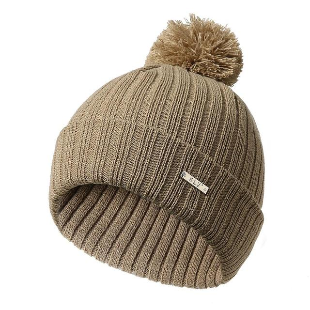 Female Casual Simple Woolen Ball Popular Knit Hat Flanged Head Wool Hat  Autumn And Winter Christmas Solid Hat Hats For Women 067bfb8b44ae