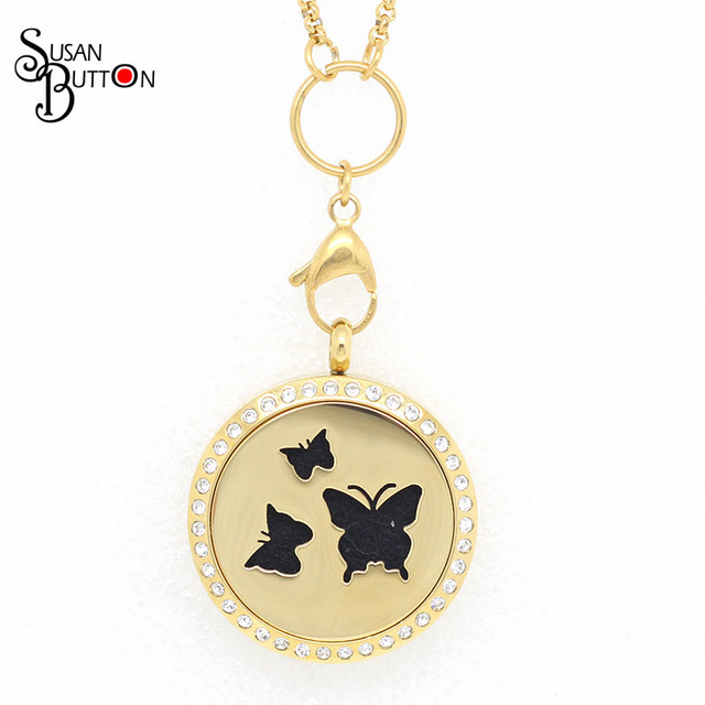 locket lockets silver index butterfly