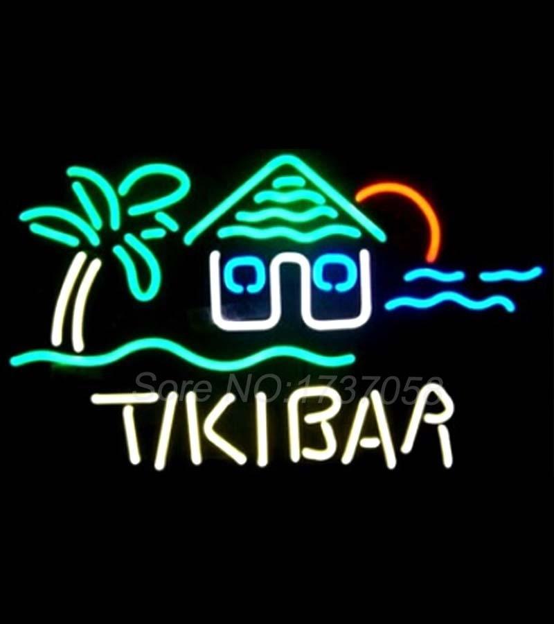 Neon Sign Tiki Bar Palm Tree Tiki Hut Beerbar Sign Neon