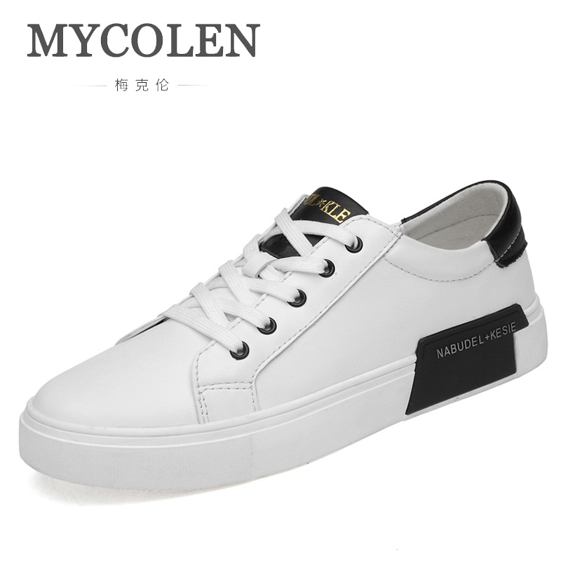 Frühling none Lining Schuhe 2018 Mycolen Mode Material Material Turnschuhe herbst Männer Sneaker none Komfort Luxus Casual lining Weiß Moccasines pxXpfH1Zn