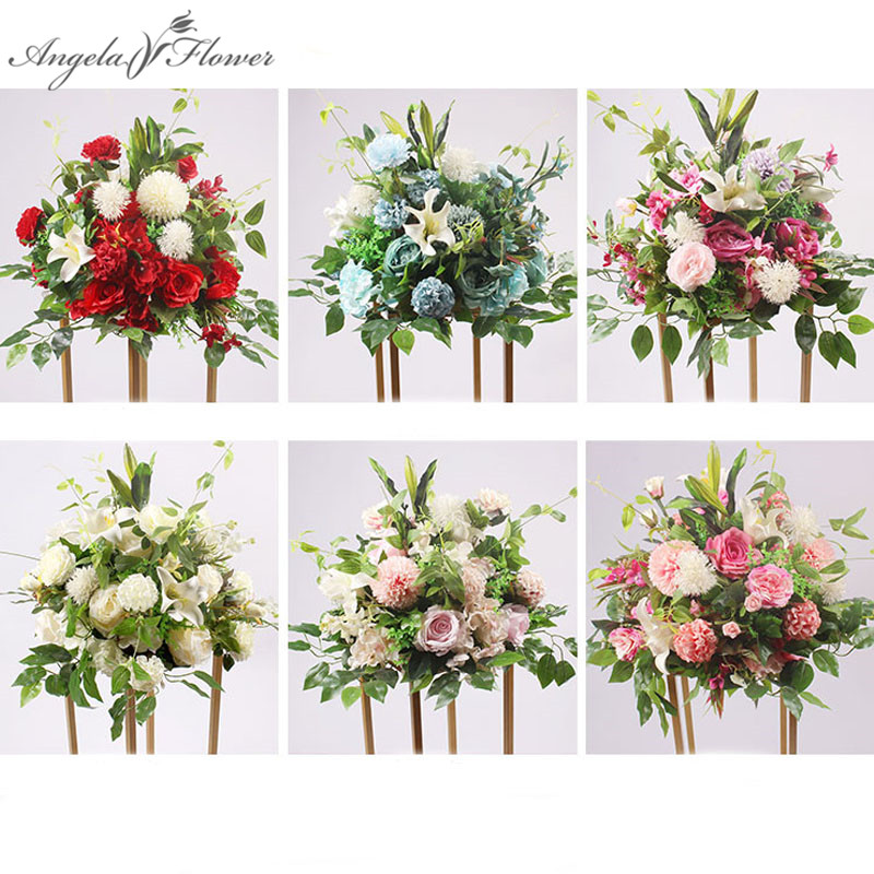 b0f308f14394a De 1 m peonías flores artificiales fila arreglo centros de mesa + 40 cm  seda flor decoración de boda arco Mesa de la pared en Artificial y Flores  Secas de ...