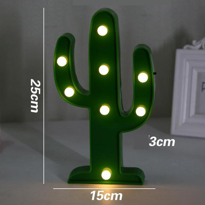 Flamingo Cactus 3D LED Lamp Girl's Heart Room Dormitory Background Package Table Lamp For Bedroom Christmas decorative lights
