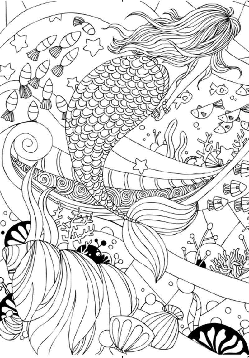 Warna Pen Adalah Tongkat Sihir buku mewarnai untuk orang dewasa anak anak membunuh waktu hadiah antistress Graffiti Lukisan Menggambar buku mewarnai di Buku