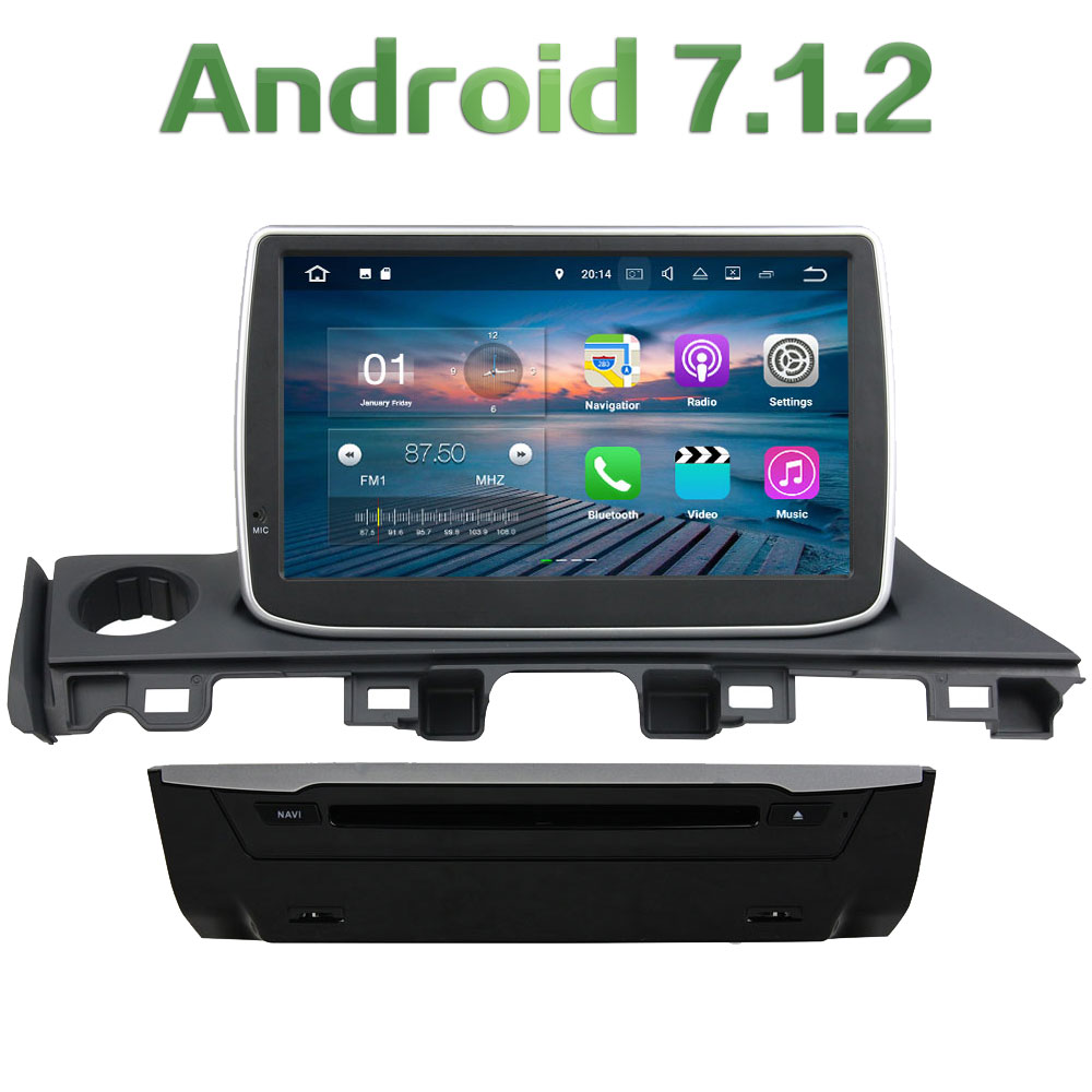 2GB RAM 16GB ROM <font><b>1Din</b></font> Android 7.1.2 Quad core Steering Wheel Control <font><b>Car</b></font> DVD Player Touch Screen For Mazda 6 Atenza 2017