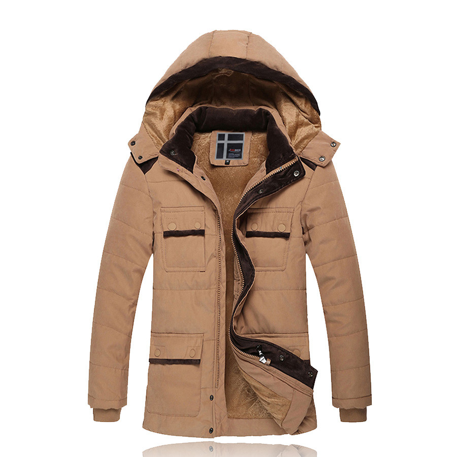Men Warm Thick Coats Winter Snow Hooded Slim Fit Down Parka Brand Design Casual Cotton Fashion Padded Jackets SL-E447 hooded detachable winter warm men coats brand design snow thick outdoor down parkas casual slim fit cotton trench coats f1210