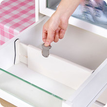 vanzlife Drawer finishing partition board Plastic classification Diy household wardrobe storage telescopic partition baffle