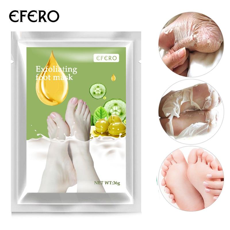 Schönheit & Gesundheit ZuverläSsig 2 Pairs = 4 Stück Efero Socken Für Pediküre Peeling Fuß Maske Für Beine Fuß Peeling Oliven Peeling Abgestorbene Haut Heels Füße Pflege Fußbad Hautpflege