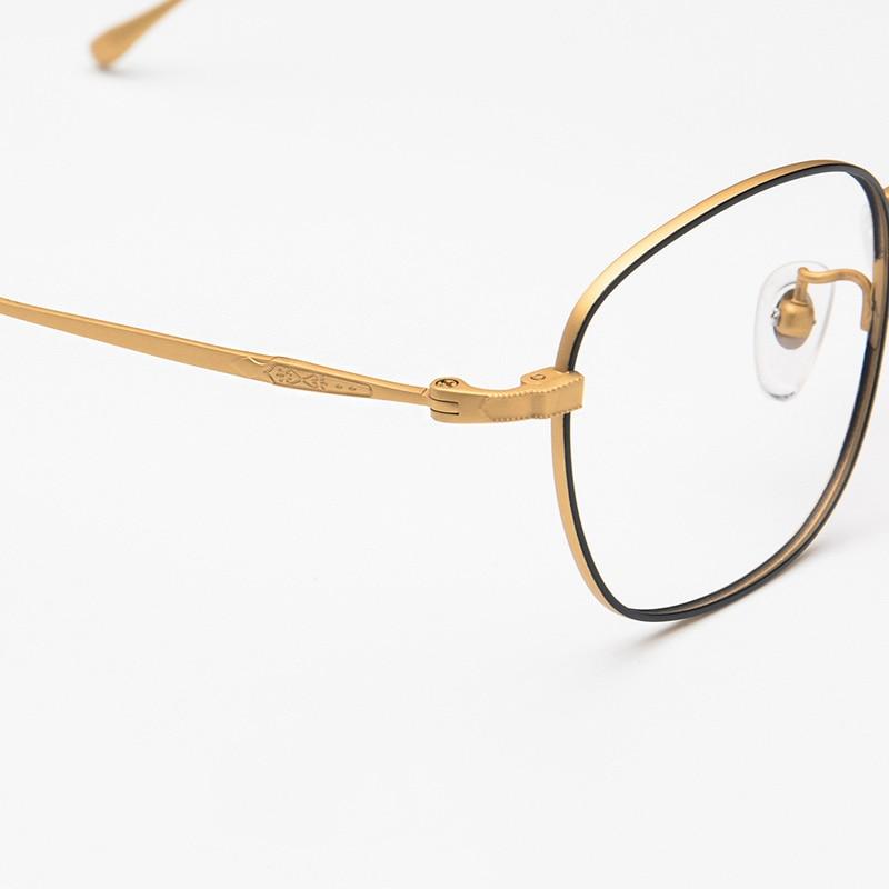 68ace48a78 XINZE 100% Pure Titanium Full Frame Lightweight Eyeglasses Prescription  Glasses Decorative Frame Popular For Men Women 3610-in Eyewear Frames from  Apparel ...
