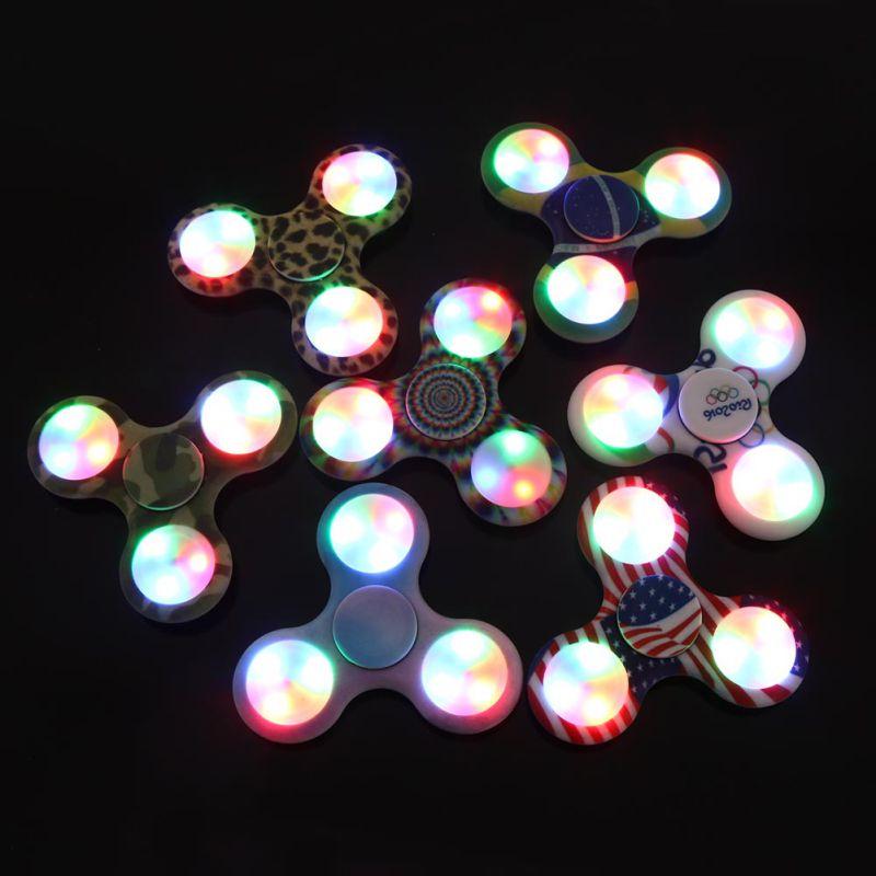 LED Light Fidget Spinner Wheel Toys Gift