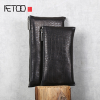 AETOO Soft sheepskin wallet Horizontal leather wallet