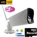 Wi-fi Ip-камера 720 P HD Поддержка Micro SD Карт, Водонепроницаемый CCTV Безопасности Беспроводной Мини Камара P2P Открытый Инфракрасный ИК-Сети CAM