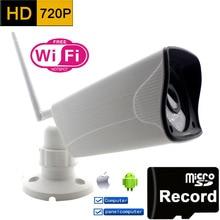 Wifi Cámara Ip 720 p HD Soporte para Tarjetas Micro SD A Prueba de agua Wireless Mini Camara P2P Exterior de Infrarrojos de Seguridad CCTV IR de la Red CAM